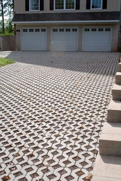 For great water runoff management for your #driveway, try Eagle Bay #pavers in Turf Stone Gray.