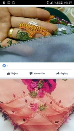 This Pin was discovered by Şen Crochet Borders, Needle Lace, Hand Henna, Hand Tattoos, Save Yourself, Tatting, Embroidery, Girly Girl, Lace