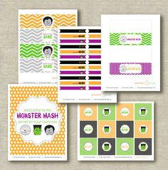 Free not too scary Halloween party printables #halloween #party #printables #free