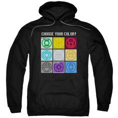 DC Comics Green Lantern Choose Your Color Adult Hoodie