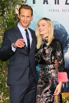 Margot Robbie and Alex Skarsgard attend the premiere of Warner Bros. Pictures' 'The Legend of Tarzan' at the Dolby Theatre on June 27, 2016 in Hollywood, California