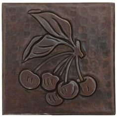 Copper Tile (TL409) Cherries Design