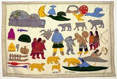 Community I Inuit Wall Hanging