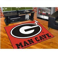 Georgia Bulldogs Man Cave 34 X 43 All Star Area Rug Floor Mat