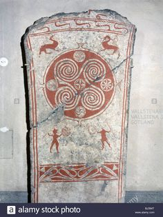 Viking Memorial Picture Stone, From Martebo, Gotland, Sweden, 5th Stock Photo, Royalty Free Image: 28347224 - Alamy