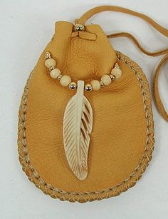 Native American Buckskin Medicine Bag  - I now know what is the next thing I need to add to my medicine bag. Thank you for the inspiration.