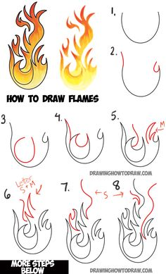 Learn How to Draw Flames and Drawing Cartoon Fire Drawing Tutorial