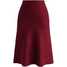 Chicwish Diamond Embossed Midi Knitted Skirt in Wine (2.310 RUB) ❤ liked on Polyvore featuring skirts, red, shiny skirt, chicwish skirt, wet look skirt, textured skirt and red skirt