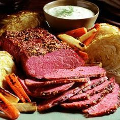 Oven Roasted Corned Beef with Mustard Brown Sugar Glaze Key Ingredient Recipes Oven Roasted Corned Beef, Crock Pot Corned Beef, Beef Brisket Recipes, Crock Pot Slow Cooker, Crock Pot Cooking, Slow Cooker Recipes, Crockpot Recipes, Cooking Recipes, Corned Beef Oven Recipe