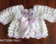 baby dress pattern baby crochet pattern dresses by paintcrochet Crochet Toddler Dress, Crochet Coat, Crochet Cardigan Pattern, Crochet Bebe, Simple Crochet, Little Girl Dress Patterns, Toddler Dress Patterns, Baby Patterns, Baby Girl Cardigans