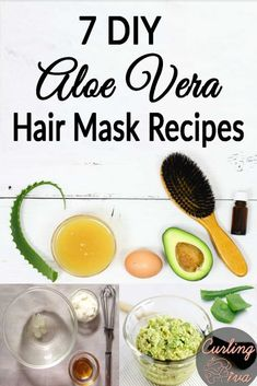 7 DIY Aloe Vera Hair Mask Recipes Whether you have oily hair, or dry strands, frizzy hair, or major dandruff issues, there's probably an aloe vera hair mask recipe for you. Olive Oil Hair Mask, Egg Hair Mask, Avocado Hair Mask, Coconut Oil Hair Mask, Hair Masks, Egg For Hair, Aloe Vera Hair Mask, Aloe Vera For Hair, Lemon Hair