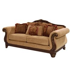 Only the maximum comfort is desired in a sofa and you've just found one! Don't worry, the Brandon's frame and construction will decrease stress and increase personal comfort. Wooden Sofa Designs, Wooden Sofa Set, Sofa Set Designs, Wood Sofa, Basement Furniture, Sofa Furniture, Living Room Furniture, Living Room Decor, Sofa Chair