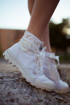 White Pampa High Palladium Boots - Fashion Is My Religion