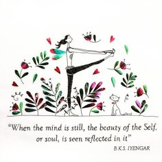 With Iyengar Yoga, you can learn how to center yourself and focus on what's most important in your life. Yoga Meditation, Yoga Zen, My Yoga, Qigong, Namaste, Bks Iyengar, Yoga Illustration, Chakras, Yoga For Kids