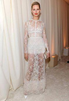 Karolina Kurkova In White Lace Ellie Saab Gown...Love!