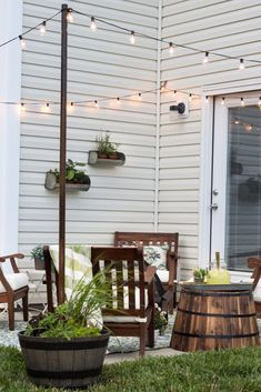 Hang String Lights without a Pergolacountryliving