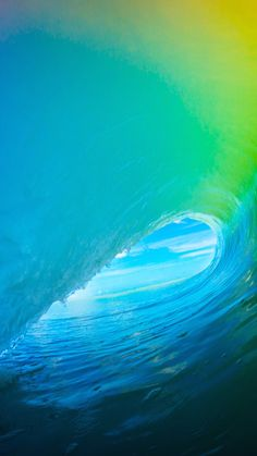 Download iOS 9 Colorful Surf Wave iPhone 6+ HD Wallpaper Iphone 6 Wallpaper, Cool Wallpaper, Ios Wallpapers, Wallpaper Downloads, Bright, Wave Pattern, Ocean, Scenery, Beautiful