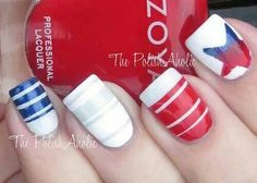 Looking for cool, all-American ideas for your of July nail designs? We've got 20 awesome nail art designs to show off your patriotism this Independence Day! Of July N… Pedicure Designs, Pedicure Nail Art, Diy Nails, Cute Nails, Pretty Nails, Pedicure Ideas, Red Pedicure, Nail Designs Spring, Cute Nail Designs