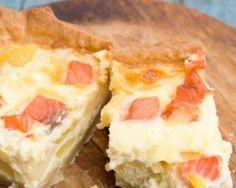Quiche Croq'Kilos au saumon sur lit de poireaux miellé : http://www.fourchette-et-bikini.fr/recettes/recettes-minceur/quiche-croqkilos-au-saumon-sur-lit-de-poireaux-mielle.html