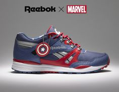 Reebok Gets Marvel Superhero Inspired Line of Shoes - i would absolutely buy the captain american ones!