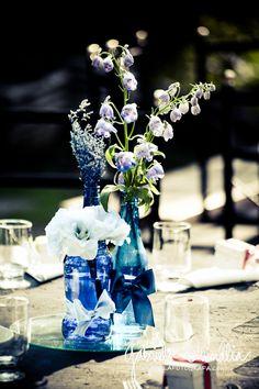 O Grande Dia | Decoração com garrafas de vidro - Casando Sem Grana