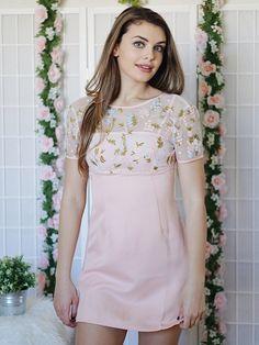 Gabbi Blush With Flowers Dress