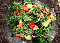 Meatless Monday: Hail to Kale Salad | Reboot With Joe; added a touch of maple and balsamic to the dressing...or after placed on salad;