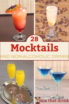 Great Mocktails for a Baby Shower. Even the mama-to-be can still enjoy delicious and gorgeous mocktails and non-alcoholic cocktails at her own party!