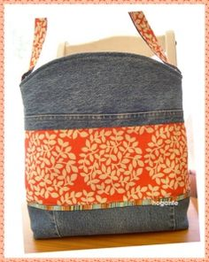 Hobo Bucket Bag - Upcycle old jeans