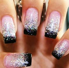 I would definitely use a pink glitter with the black...super cute!