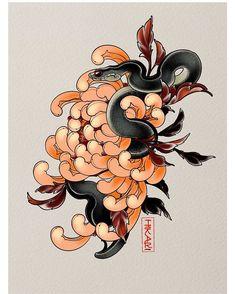 Japanese Flower Tattoo, Japanese Tattoo Designs, Japanese Flowers, Flower Tattoo Stencils, Flower Tattoos, Hand Tattoos, Crisantemo Tattoo, Painting Inspiration, Tattoo Inspiration