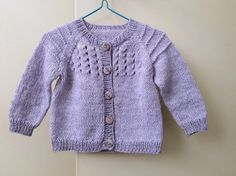 Hand knit lilac baby girl cardigan, very soft yarn,  baby sweater 6 months, pretty baby present - lacy girl's sweater, modern baby knitwear The Cardigans, Baby Girl Cardigans, Baby Cardigan, Girls Sweaters, Baby Sweaters, Baby Presents, Some Girls, Pretty Baby, 6 Months