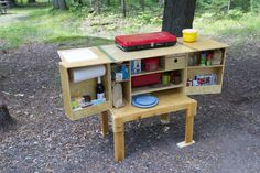 I think this is the camp chuck box I want. Everything in its place. Yay!