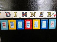 Interchangeable Weekly Dinner Menu