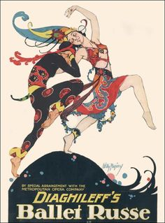 Ballets Russe was a Ballets company which established by Serge de Diaghilev in 1907 . This was a poster of a concert of this  itinerant ballet company .