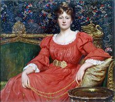 Sir William Blake Richmond - Mrs Luke Ionides (1882)
