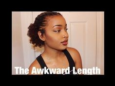 Another Super Easy Tutorial for Short/Awkward Length Natural Hair - YouTube