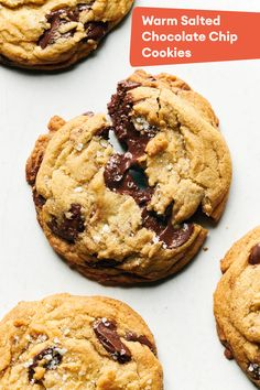Salted Chocolate Chip Cookies, Chocolate Chip Ice Cream, Baking Ideas, Baking Recipes, Cookie Recipes, Thanksgiving Desserts, Holiday Desserts, Diy Christmas, Christmas Cookies