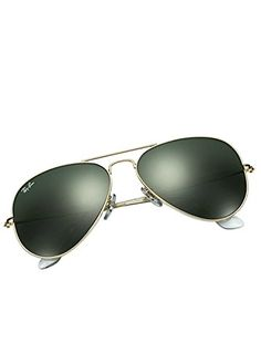 Ray-Ban Aviator Non-Polarized Sunglasses RB3025, Gold Frame/Green Lens Ray-Ban http://www.amazon.com/dp/B00080FK2U/ref=cm_sw_r_pi_dp_1iCtwb1JPH98G