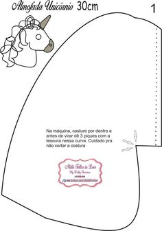 Formy do zrobienia Jednorożcowej poduszki Craft Ideas Sewing Stuffed Animals, Stuffed Animal Patterns, Felt Patterns, Sewing Patterns, Unicorn Doll, Diy Back To School, Unicorns And Mermaids, Cross Stitch Boards, Baby Sewing Projects