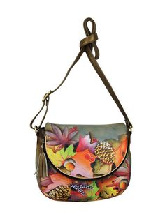 Shoulder Bag Travel Retro Turkey Bird Flower Green Leaf Leather Hand Totes Bag Causal Handbags Zipped Shoulder Organizer For Lady Girls Womens Medium Handbags