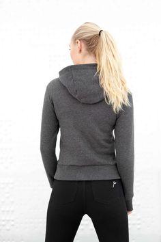 Dark Grey Majuscule hoodie from Famme Crew Neck Sweatshirt, Pullover, Plain Black Hoodie, Sleeveless Hoodie, Girls Sweaters, Custom Made, Clothes For Women, Hoodies, Long Sleeve