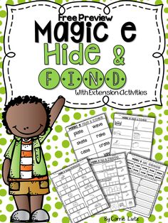 Free! Magic e Hide and Find with Practice Pages. My students looovvve this hide and find activity. Your will too!! Give it a try!