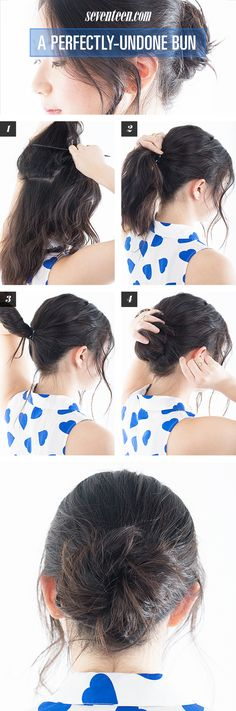 How To Get The Perfect Messy Bun - Undone Bun Tutorial - Seventeen