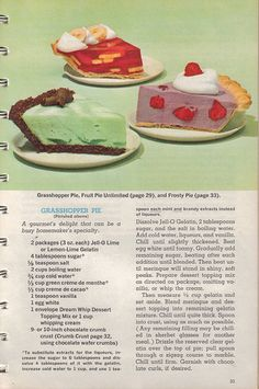 Frosty retro grasshopper jello unlimited 60   1963. The year I was born!
