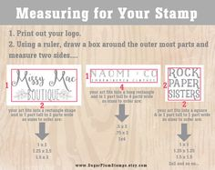 PLEASE READ BELOW INFO BEFORE ORDERING!!!  A B O U T ⋆ T H I S ⋆ D E S I G N ---------------------------------------------- - This listing is for YOUR MACHINE READY ART FILE to be made into a food safe acrylic stamp with a block mount wood handle. The purchase of this listing does not include us designing/preparing a logo or design for you. PLEASE CONVO ME FIRST and send your art to see if it can be made into a rubber stamp. Please send the largest, crisp, black and white file you have o...