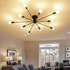 79.99$  Watch now - http://ali3bq.worldwells.pw/go.php?t=32790336195 - Modern art ceiling chandeliers Lamparas De Techo lustre Luminaria Abajur Ceiling Lamp Home Lighting Luminaire Living Room Lights 79.99$