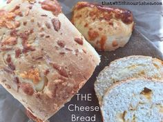 Cheese Bread -- Soft white bread studded with three goozing cheeses. This will make the most amazing bread you've ever eaten fresh, toasted, or used for sandwiches.  thatwhichnourishes.com