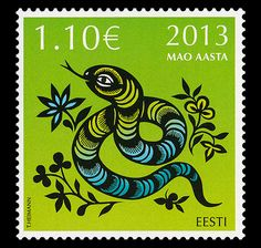 Chinese New Year 1995   Chinese New Year - Year of the Snake at face value   Official Estonia ...