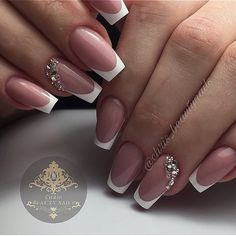 130 French Nails Ideas – The Best Nail Designs – Nail Polish Colors & Trends French Manicure Nails, French Manicure Designs, French Tip Nails, Nail French, Bridal Nails French, Short French Nails, Nails Design, Bride Nails, Wedding Nails